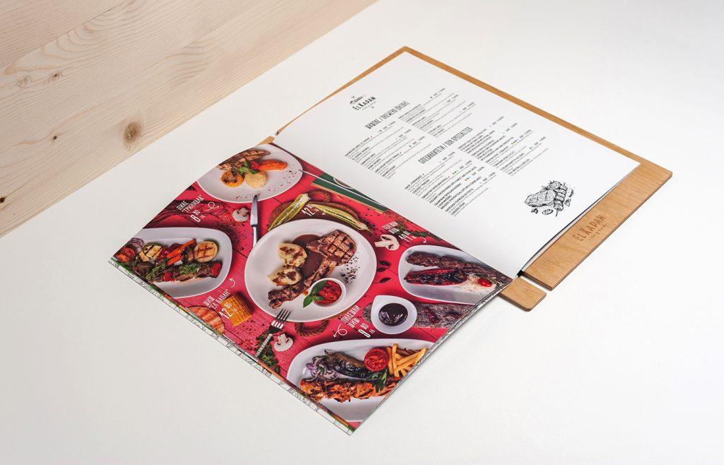 разработка дизайна меню El Kapan