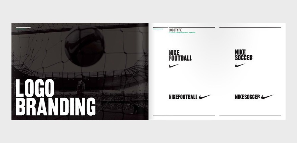Пример логобука: Nike