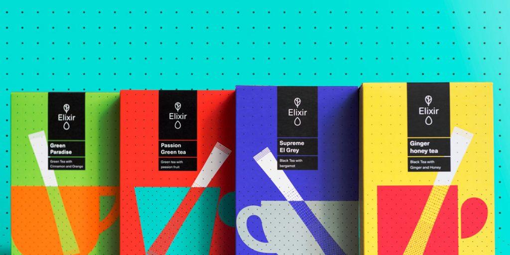 Упаковку чая можно сделать в ярких цветах