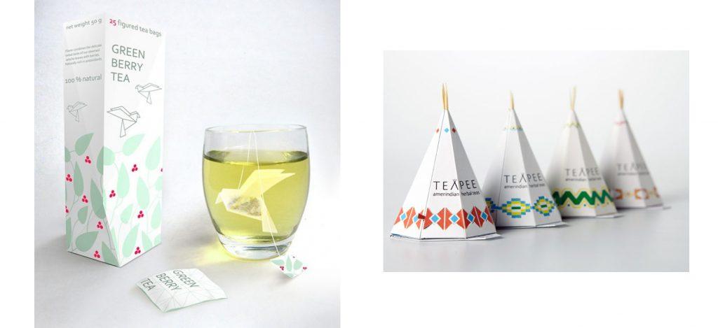 Нестандартные примеры чайных пакетиков